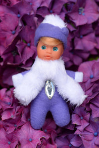 Adorable Baby Matchbox Doll for Girls – Lizzy – The Diamond Collection - Stork Babies - beautiful handcrafted dolls