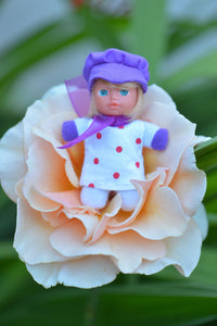 Cute Baby Matchbox Doll for Girls – Carisa – The Spanish Collection - Stork Babies - beautiful handcrafted dolls