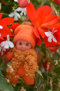 Cute Baby Matchbox Doll for Girls – Donata – The Italian Collection - Stork Babies - beautiful handcrafted dolls