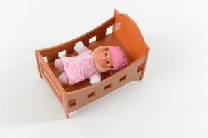 Crib for dolls - adorable small crib - Stork Babies - beautiful handcrafted dolls