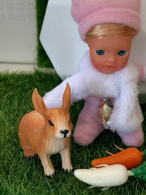 FLASH DEAL - SUPRIZE DOLL AND PET BUNNY (LUKE SKYHOPPER) - Stork Babies - beautiful handcrafted dolls