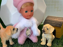 Toy dogs - Romeo and Juliet - Stork Babies - beautiful handcrafted dolls