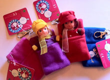 Sleeping bag for dolls - Stork Sacs - Stork Babies - beautiful handcrafted dolls