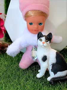 Toy Pets - Bink Bink - toy cat - Stork Babies - beautiful handcrafted dolls