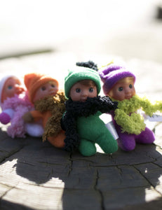 1 Collection of Italian Dolls (8 in collection) - Small baby dolls - Stork Babies - beautiful handcrafted dolls