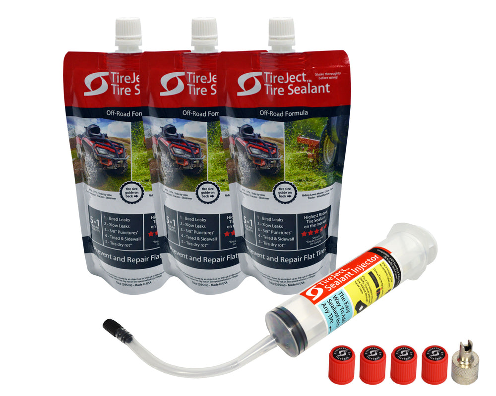 Lawn Mower Tire Sealant - Tire Protection Kit