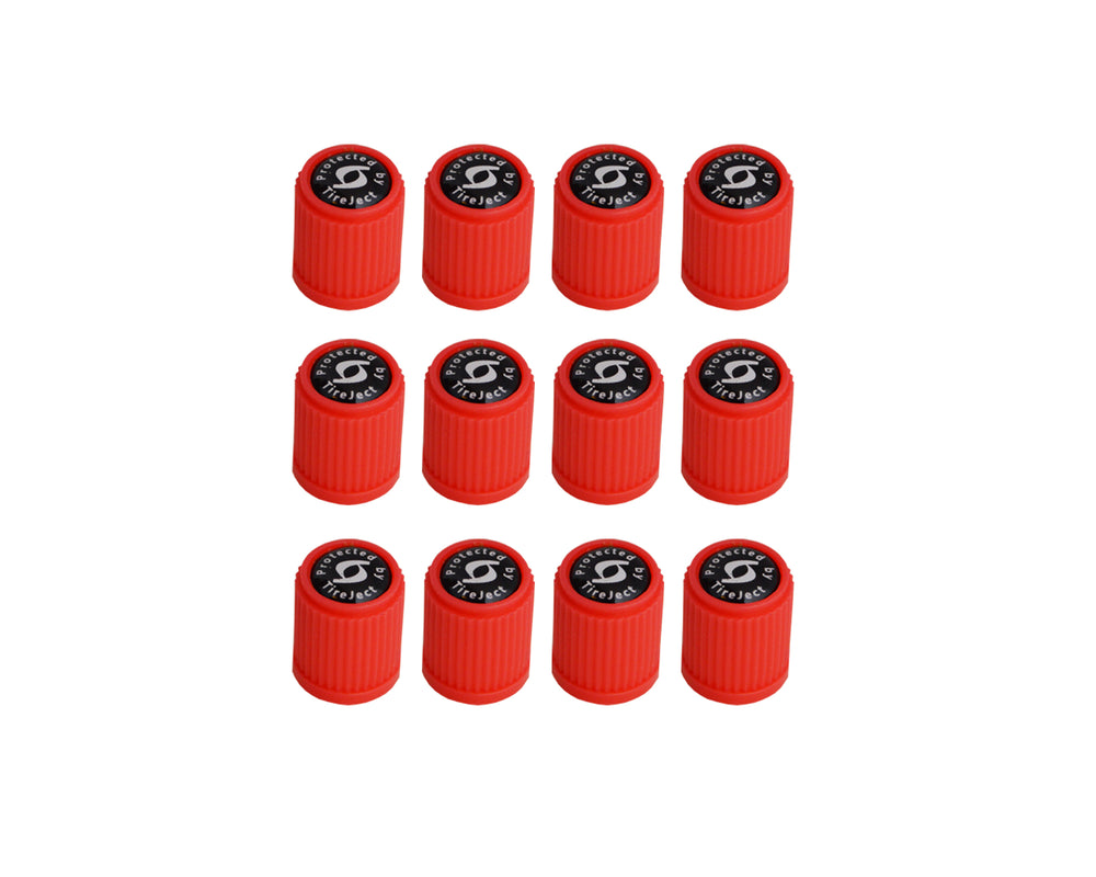 TireJect Red Valve Stem Caps (12-Pack)