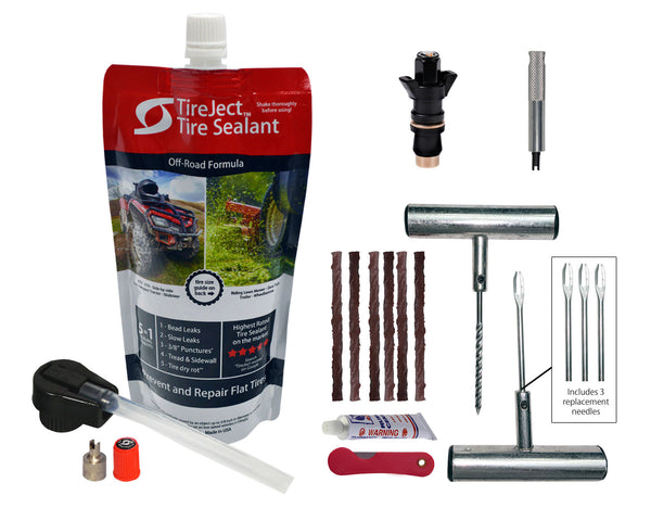 Emergency Off-Road Tire Repair Kit featuring Colby Valve