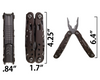 12-in-1 Multi-Tool Pocket Knife with Pliers
