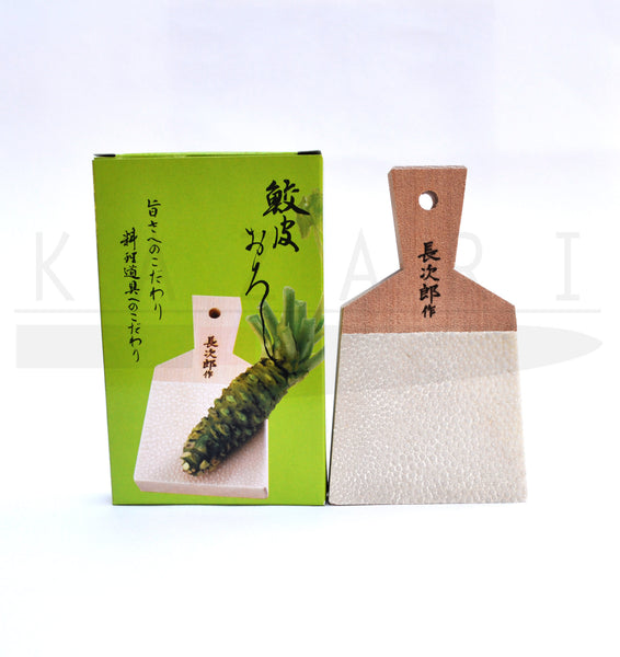 Buy Sharkskin wasabi graters from fresh wasabi to make sushi.