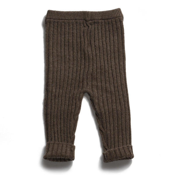 Ribbed Sweater Pants in Mud