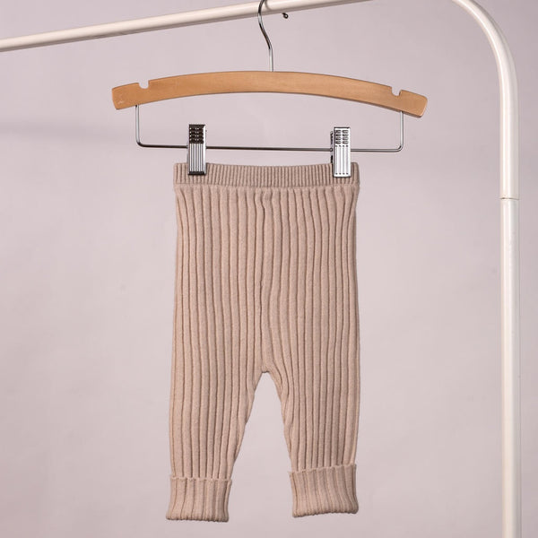 Ribbed Sweater Pants in Sand
