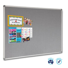 Educate Grey Felt Notice Board