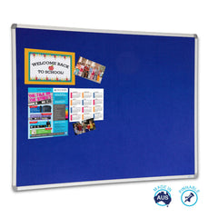 Educate Royal Blue Felt Notice Board