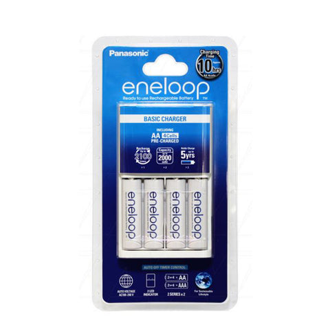 Eneloop Battery Charger with 4 x AA Batteries