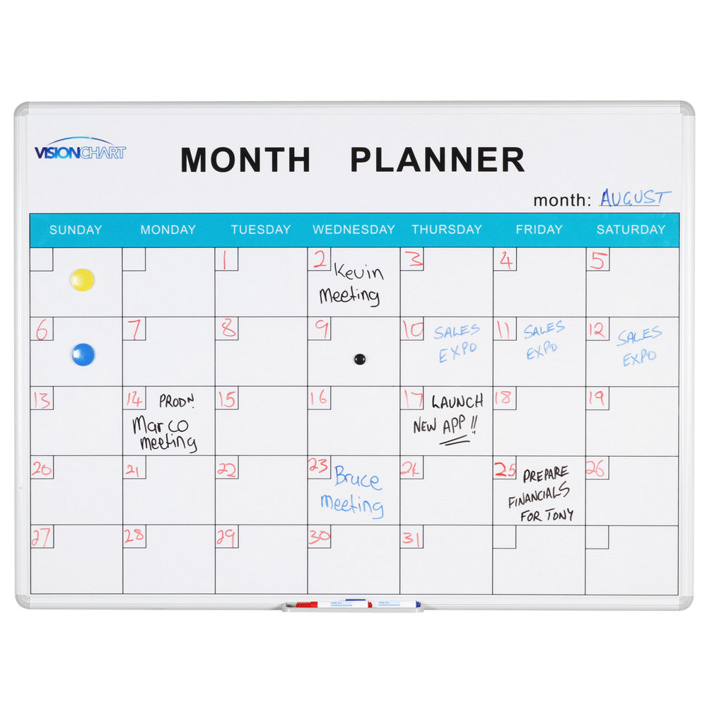 month planner whiteboard talk audio visual