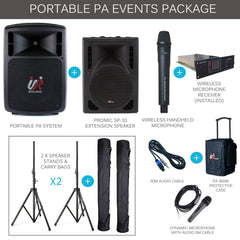 Promic PA-300W Portable PA Events Package