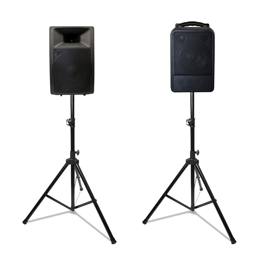 lightweight tripod speaker stand talk audio visual. Black Bedroom Furniture Sets. Home Design Ideas