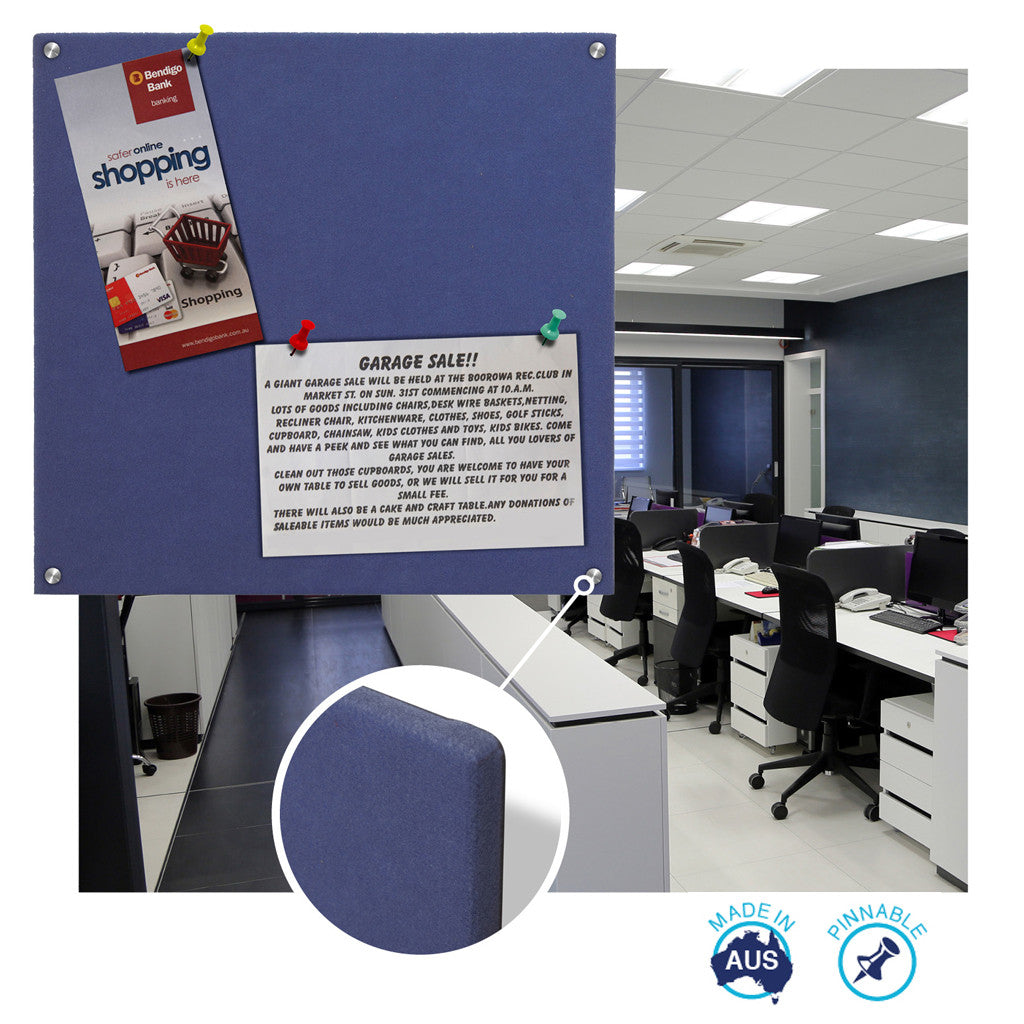 office pinboard. Educate Wrapped Smooth Velour Pinboard Office