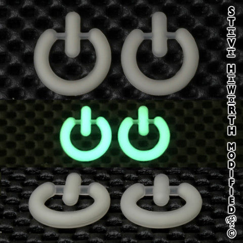 "Glow-in-the-Dark Power Button 1"" (25mm) x 1"" (25mm)  X  3/16"" (4.5mm) thick"
