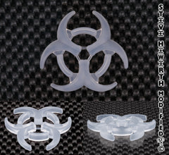 .215 - 5.6MM Tall X 2 1/4 - 57MM Long Silicone Biohazard