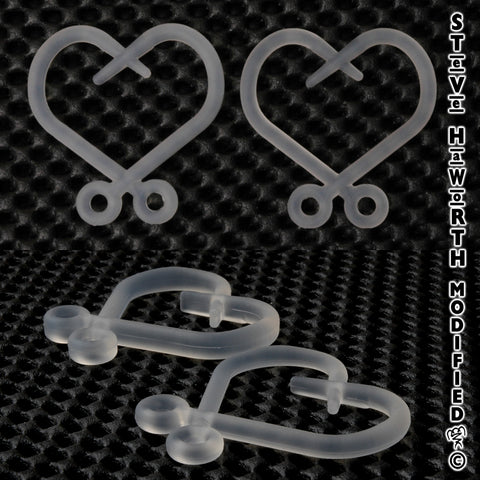 "Silicone Hook Heart 1 7/8"" (49mm) Wide  X  2"" (50mm) Tall"