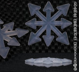 3 wide X 2 5/16 tall X 5/16 thick Silicone Chaos Star