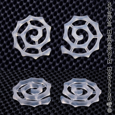 1/4 in Tall x 2 in (6mm x 48mm) Silicone Chaos Spiral