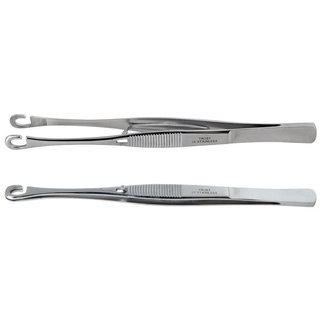 Piercing forceps with round head