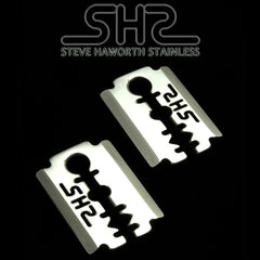Razor Blade Ear Weights  316 L Stainless Steel