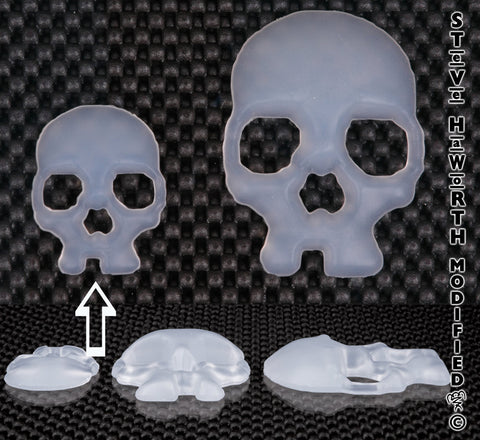 Silicone Skull 2 - 51MM Wide X 3/8 - 10MM Tall.