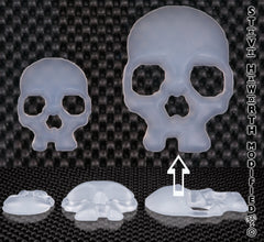 Silicone Skull 3 - 76MM Wide X 11/16 - 17.5MM Tall.