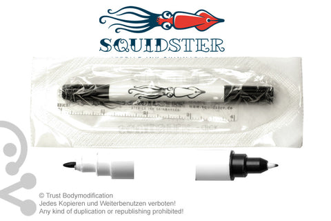 100 (One Hundred) Black Squidster Piercing Markers, sterile