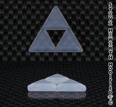1 9/16 - 40MM Tall X 5/16 - 8MM Thick, Silicone Triforce