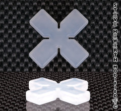 Silicone Square End X/Cross 2 1/2 - 63.5MM Wide X 3/8 - 10MM Tall.