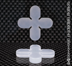 Silicone Round End X/Cross 2 1/2 - 63.5MM Wide X 3/8 - 10MM Tall.