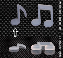 2 - 51MM X 3/8  - 10MM  Single Music Note.