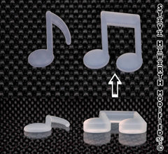 2 - 51MM X 1/4  -  6MM  Double Music Note.
