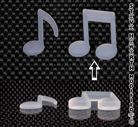 2 - 51MM X 3/8  - 10MM  Double Music Note.