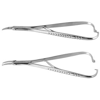 Dermal Anchor/Microdermal Stem Holder Piercing Tool, Soft Clamp Ratchet Handle 1.2 mm or 1.6 mm (Polished or Satin)