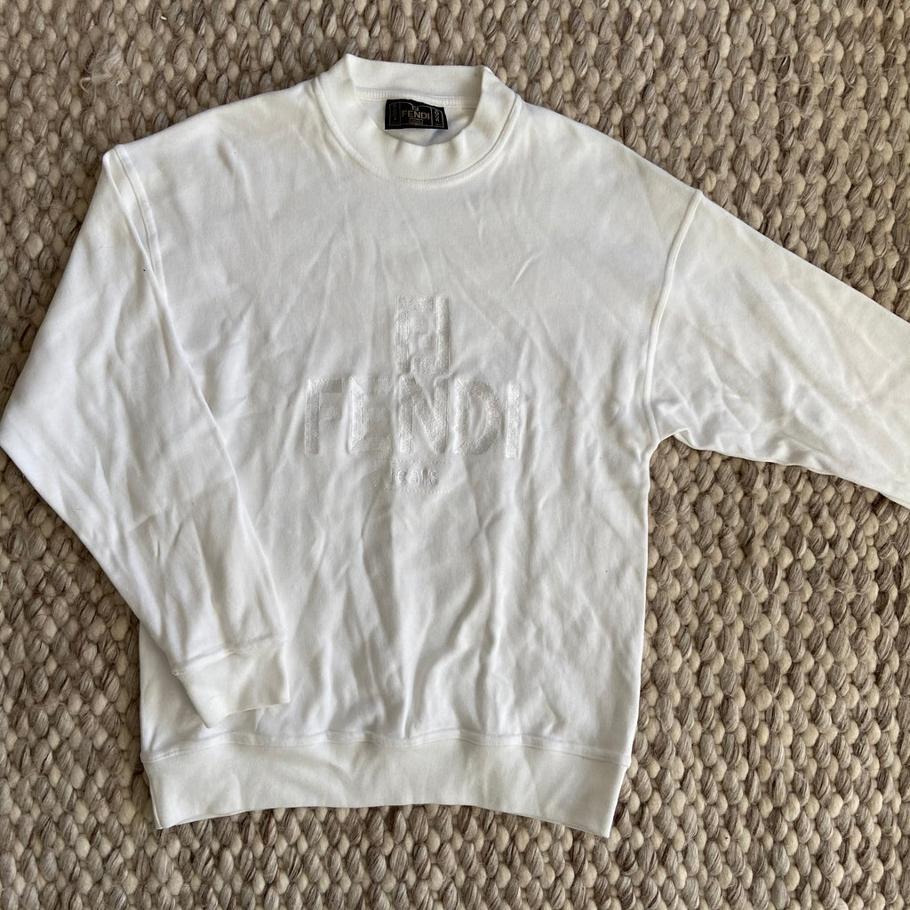 White Fendi Sweater