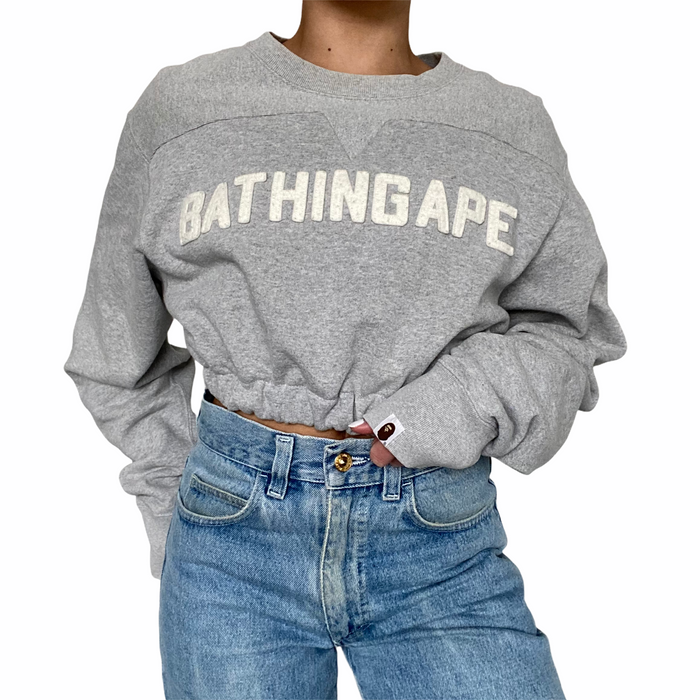 Reworked A Bathing Ape / BAPE Cropped Sweater