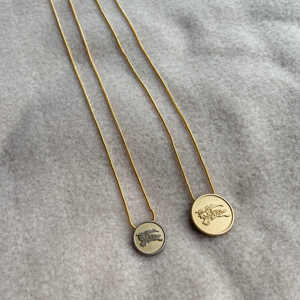 Reworked Burberry Necklaces