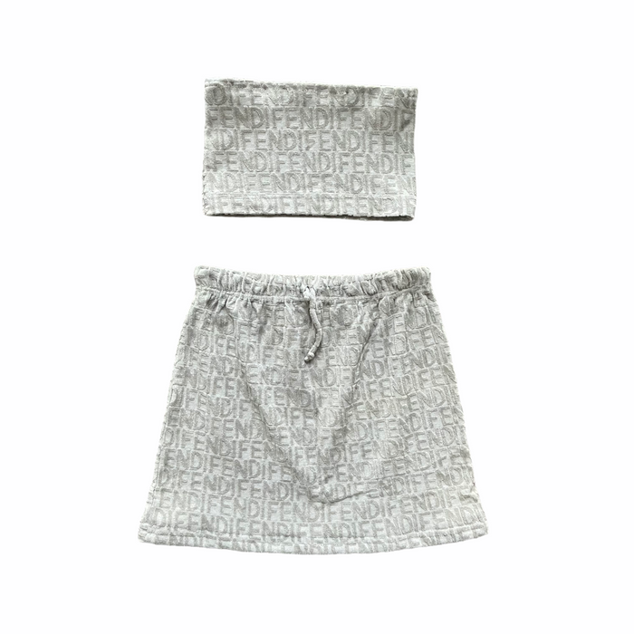 Reworked Grey Fendi Two Piece