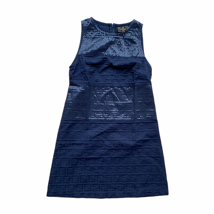 Fendi Zucca Navy Dress