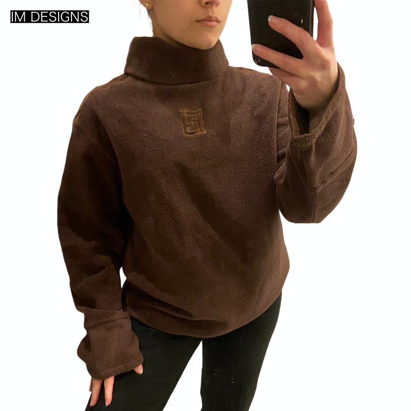 Fendi Fleece Turtleneck Sweater
