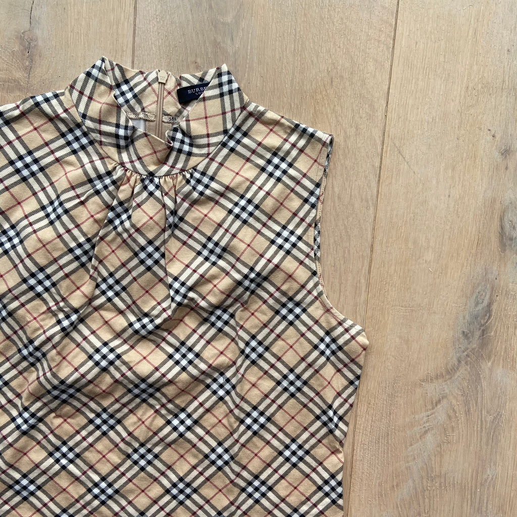 Burberry Nova Check High Neck Top