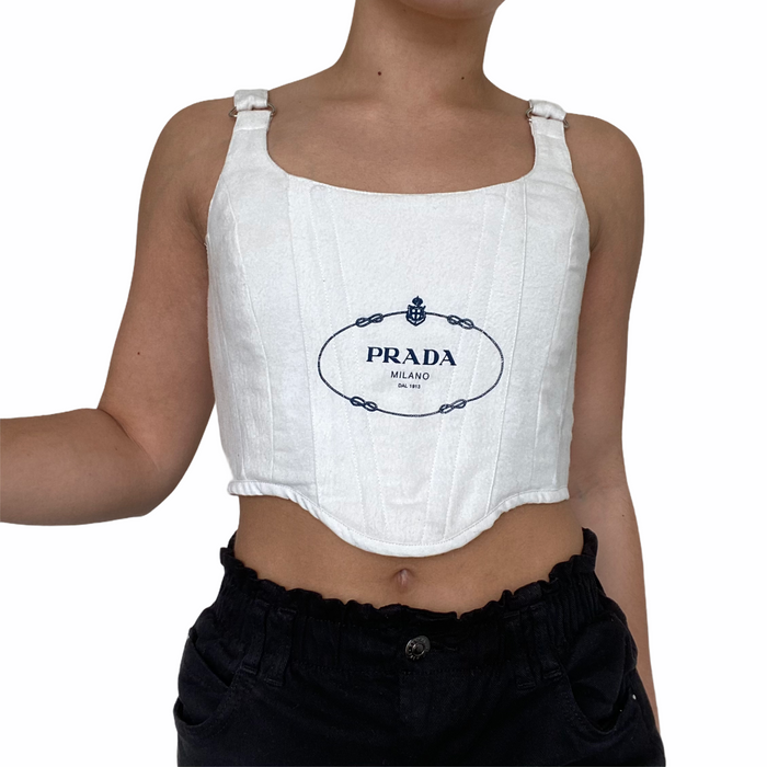 Reworked Prada Corset Top