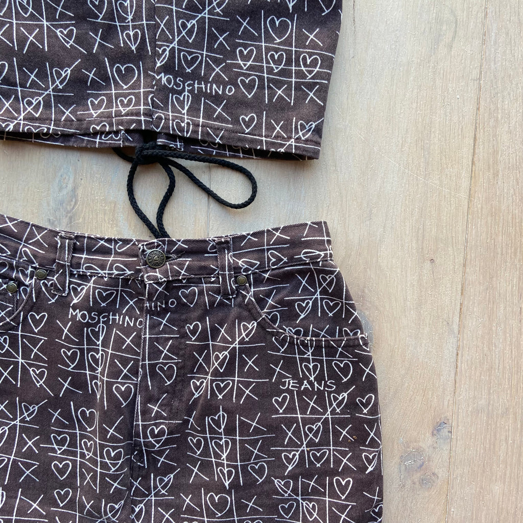 "Reworked Moschino ""Noughts and Crosses"" Two Piece"