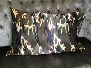 Satin Camouflage Pillow Case